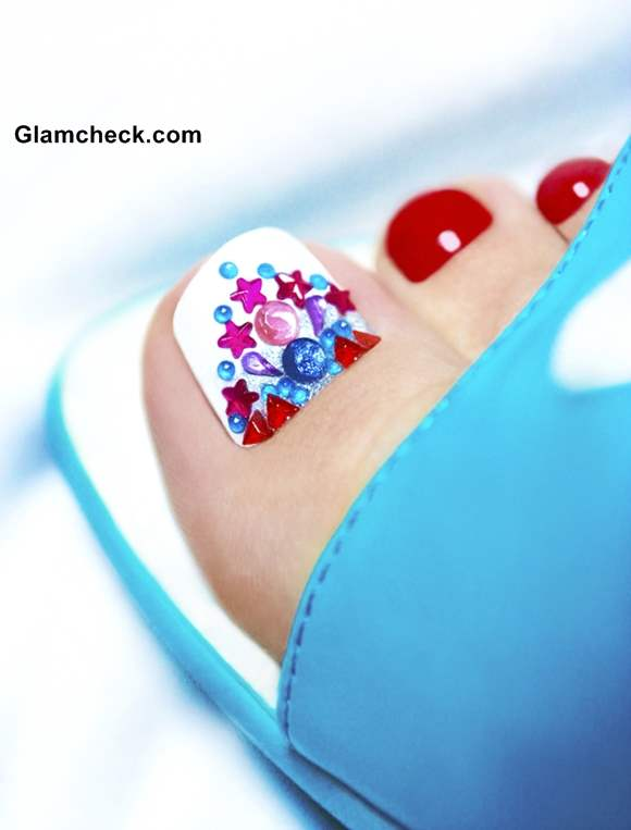 Crystal Nail Art Pedicure How To
