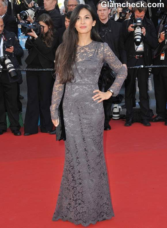 Elodie Yung Lace Gown at Cannes 2013