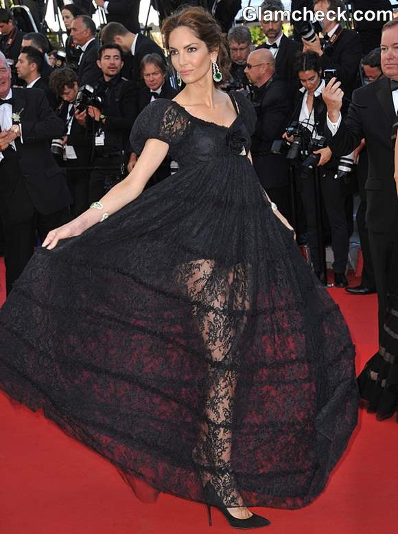 Eugenia Silva Lace Gown at Cannes 2013