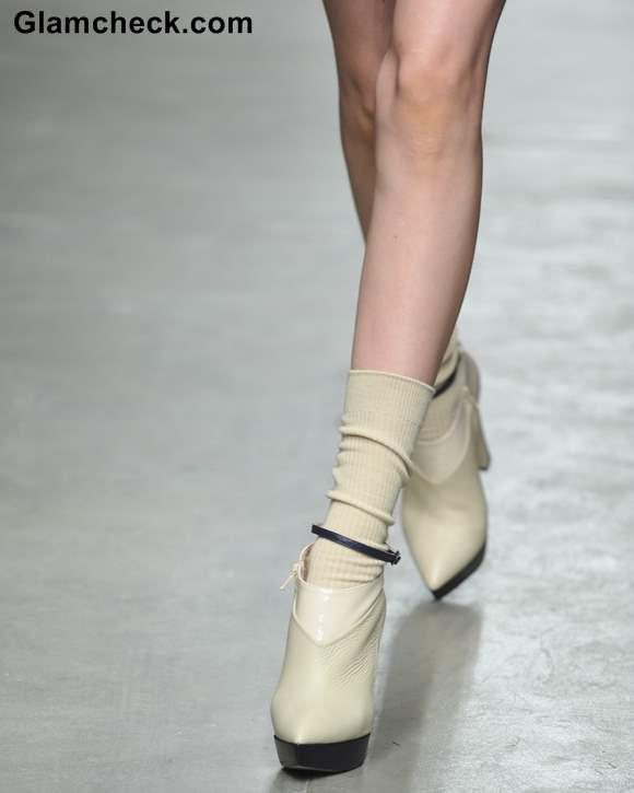 Footwear Trend Fall 2013 Ankle Boots with Socks Karen Walker