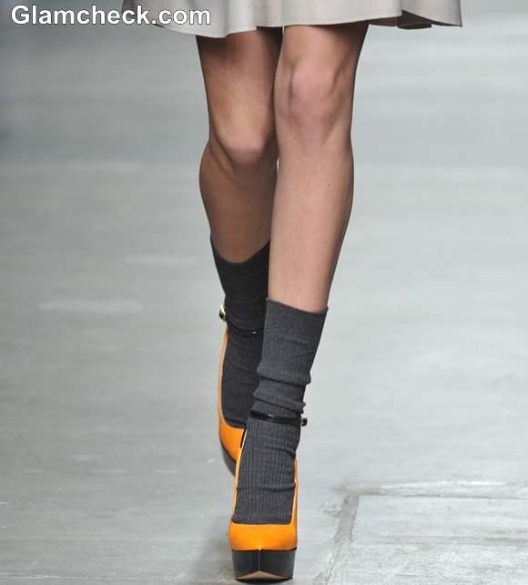 Footwear Trend Fall 2013 Karen Walker Ankle Boots with Socks
