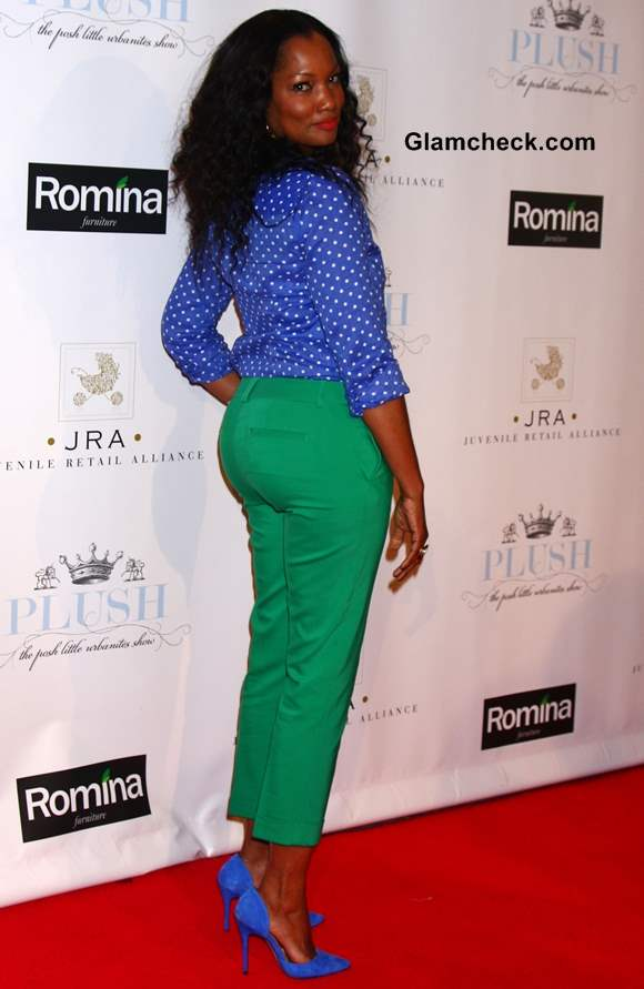 Garcelle Beauvais Amp Lisa Rinna Stand Out In Color Block