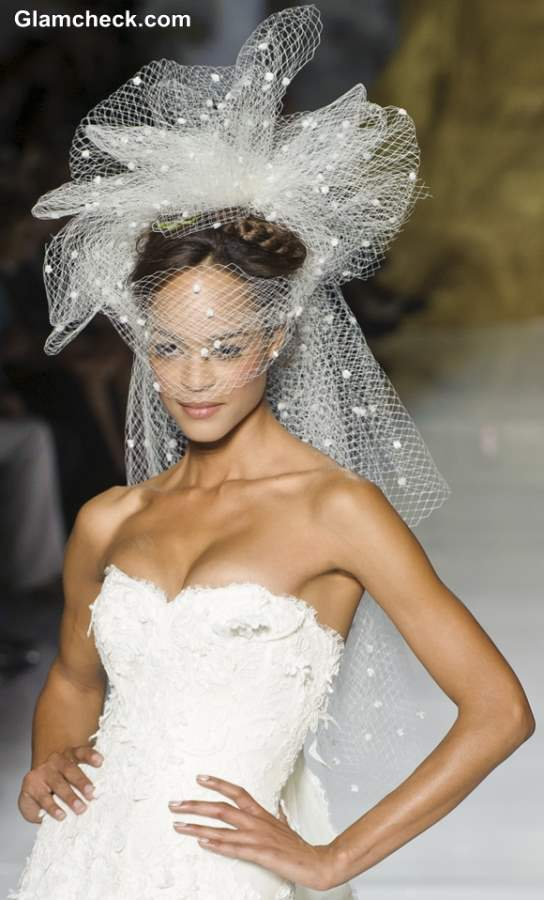 Glamorous Bridal Head Gears 2013 fall winter at Pronovias
