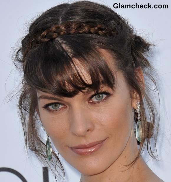Hairstyle DIY Milla Jovovich Milkmaid braid