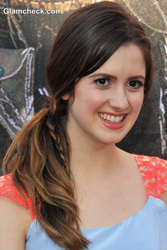 Hairstyle How To Side Ponytail with Braid 2013 Laura Marano