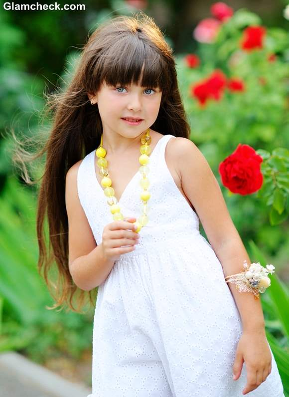 Hairstyling Ideas for Little Girls with Long Hair and Bangs