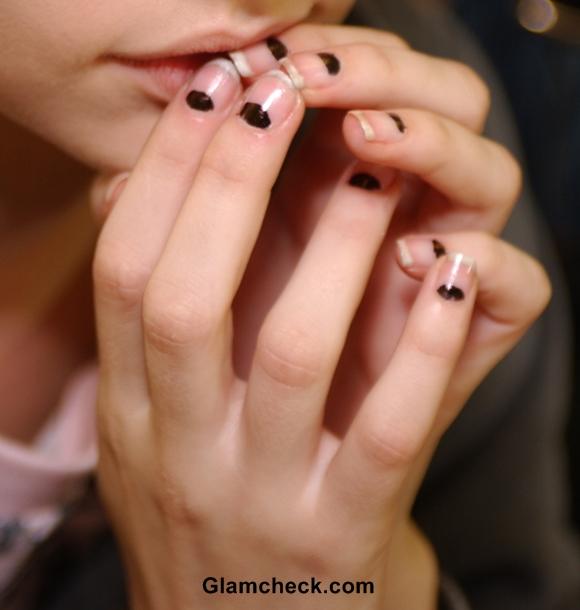 Half Moon Manicure Nail Art