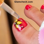 How To Do a Hand-Painted Nail Art Pedicure