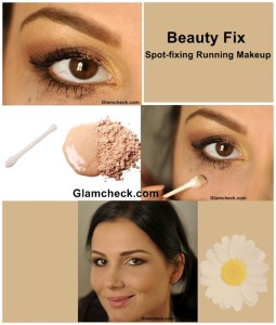 Beauty Fix of The Day: Spot-fixing Running Makeup