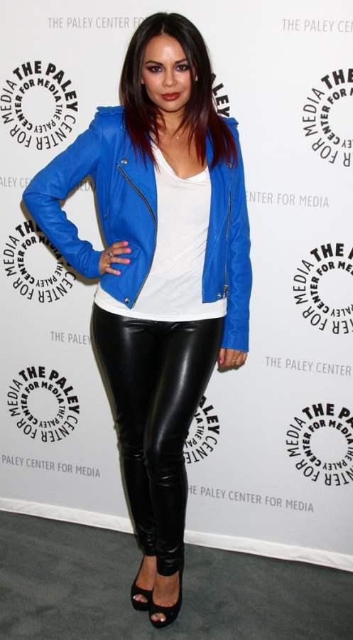 Janel Parrish 2013 blue jacket