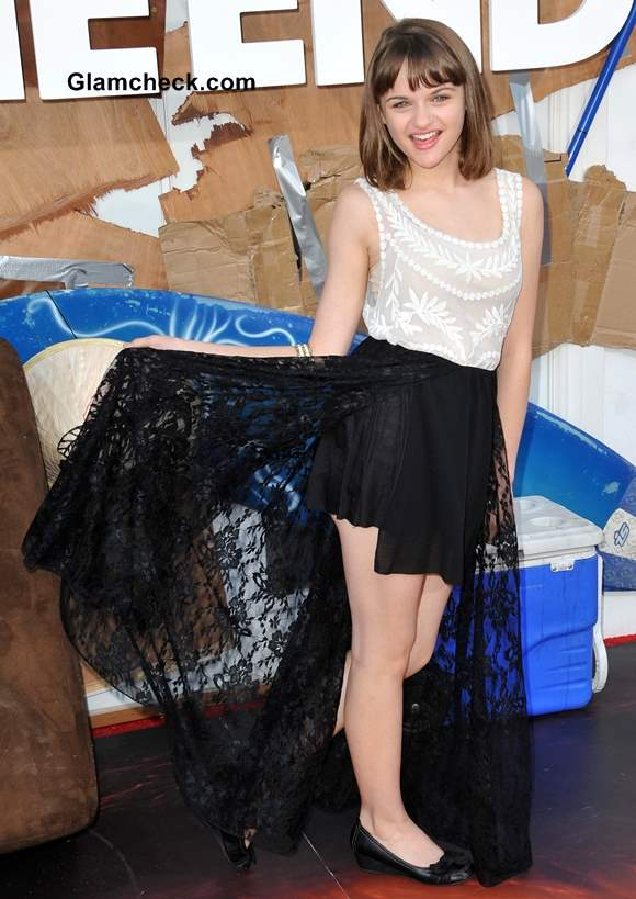 Joey King Flaunts Lacy Monochrome Attire at This is the End World Premiere