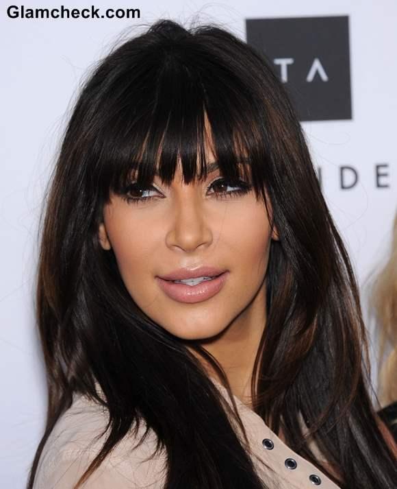 Kim Kardashian Blunt Bangs