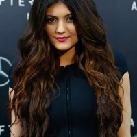 Kylie Jenner hairstyle 2013 two-toned hair color
