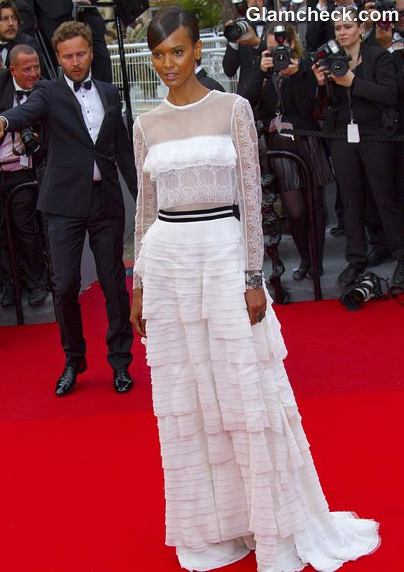 Lyia Kebede Lace Gown at Cannes 2013
