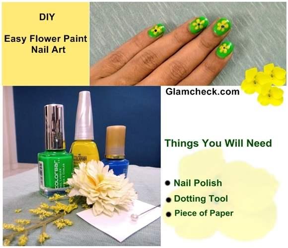 Nail Art DIY – Easy Flower Paint Nail Art