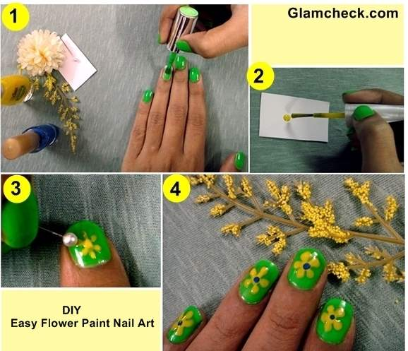 Nail Art DIY Easy Flower Paint Nails