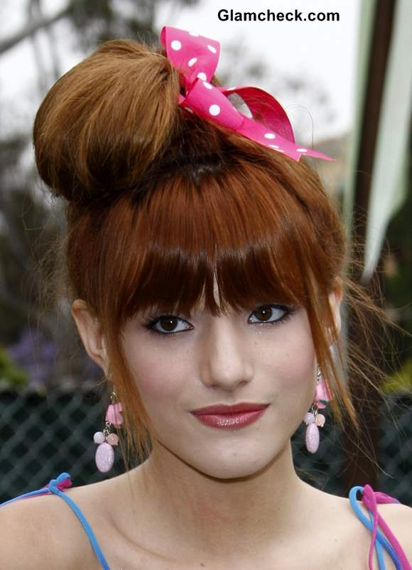 Prom Updo Hairstyles for teenage girls Bella Thorne inspired