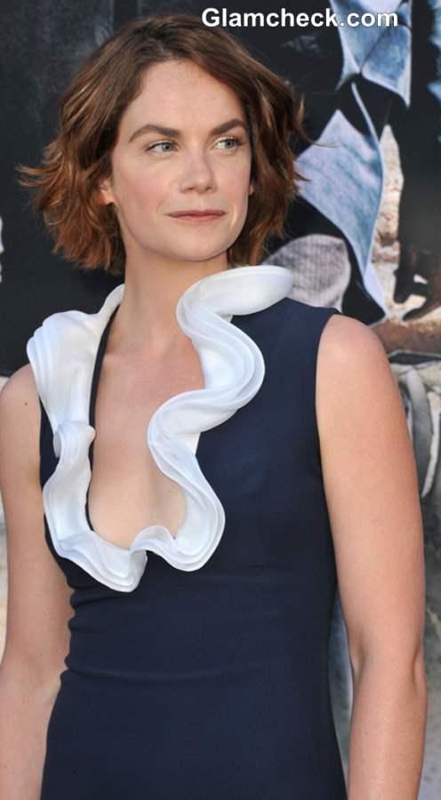 Ruffled neckline Ruth Wilson Alexander McQueen Gown 2013