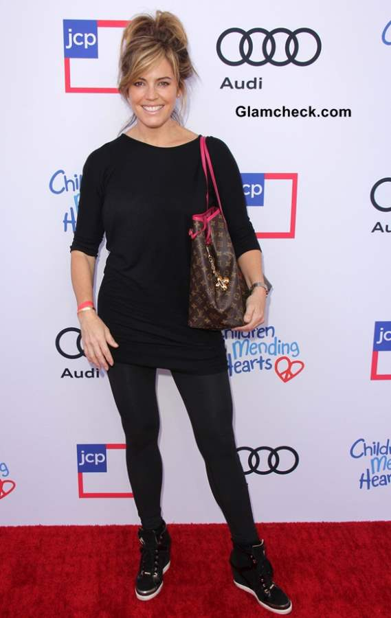 Sandra Taylor Casual in Black at Childrens Charity Event