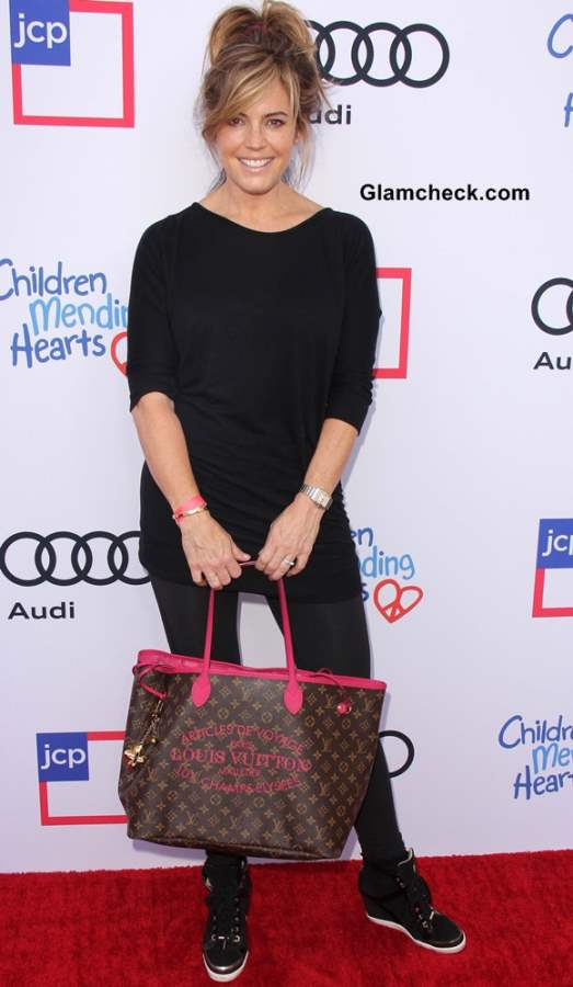 Sandra Taylor Cute in Casual in Black at Childrens Charity Event