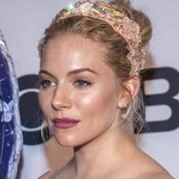 Sienna Miller Sports Bejewelled Floral Headband
