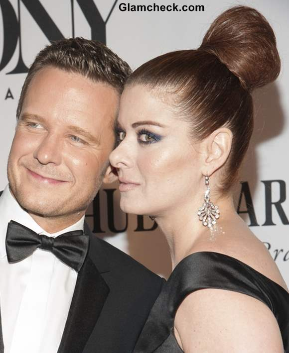 Top Bun hairstyle 2013 Debra Messing Stately at Tony Awards