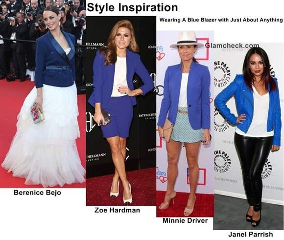 style inspiration wearing blue blazer