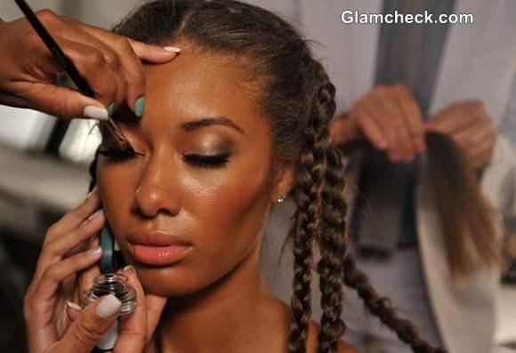 Agua Di Lara Swim Fashion Week Hairstyle Trend S-S 2014 Multiple braids at