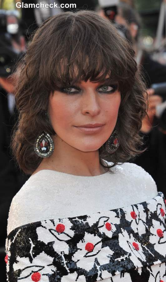 Blunt Haircut for fine hair like Milla Jovovich