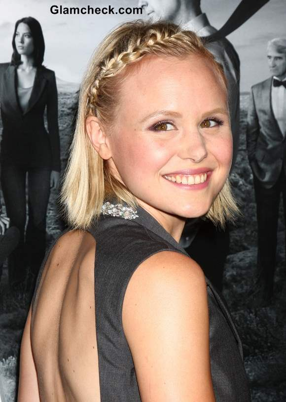 Braided Bangs for Short Hair 2013 Alison Pill
