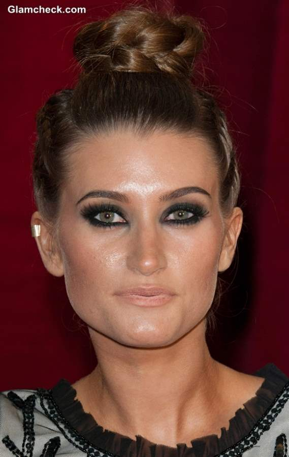 Braided Top Bun Hairstyle Charley Webb