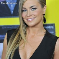 Carmen Electra Sexy Side Parted Sleek Hairstyle
