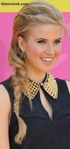 Celeb Hairstyle Caroline Sunshine Messy Side Braid