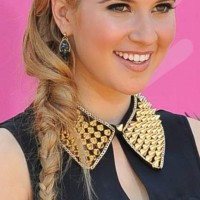 Celeb Hairstyle Caroline Sunshine Messy Side Braid