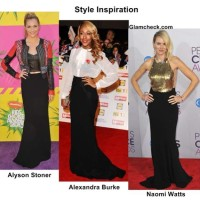 Celeb Style Inspiration 3 Formal Party looks with Long Black Skirt