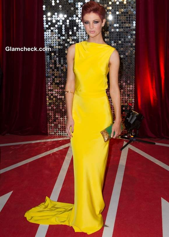 Celebrity Yellow Gowns Lucy Dixon
