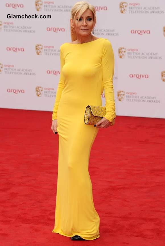Celebrity Yellow Gowns Michelle Collins