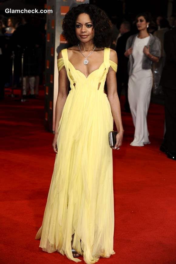 Celebrity Yellow Gowns Naomie Harris