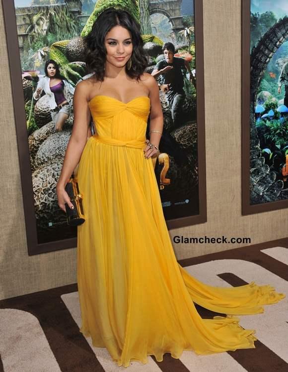 Celebrity Yellow Gowns Vanessa Hudgens