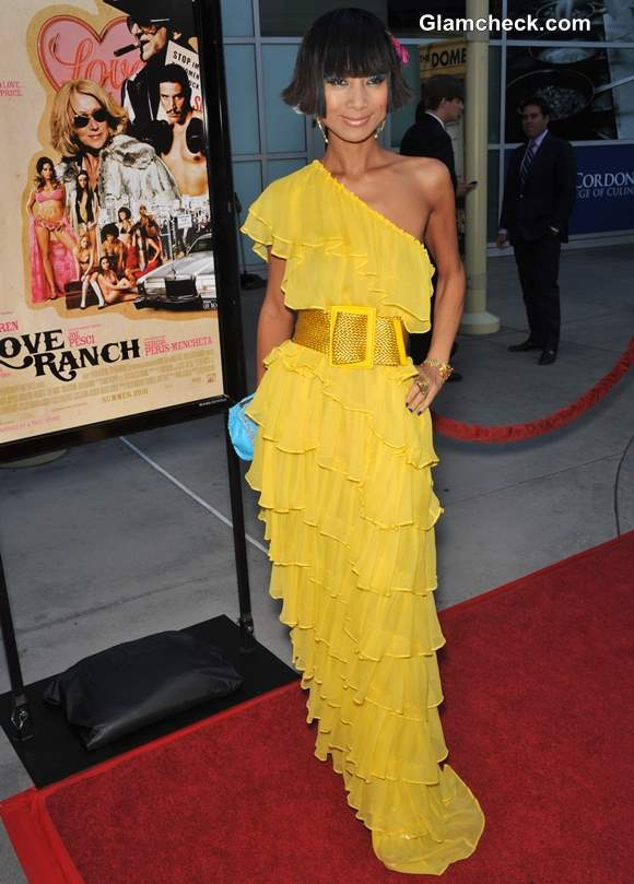 Celebrity Yellow Gowns on the Red Carpet Bai Ling 2013
