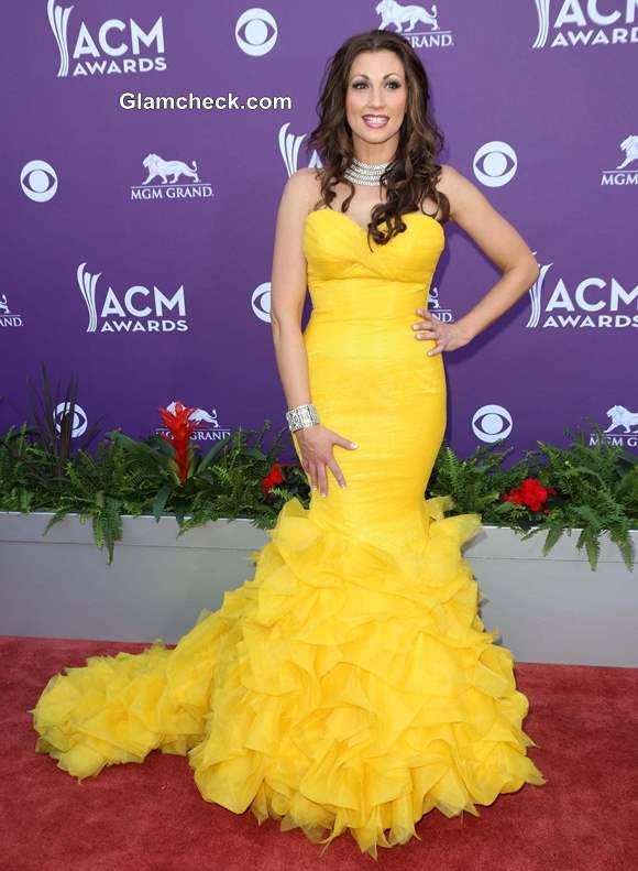 Celebrity Yellow Gowns on the Red Carpet Danielle Peck 2013