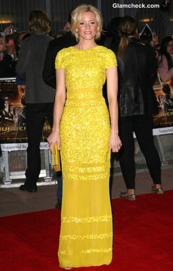 Celebrity Yellow Gowns on the Red Carpet Elizabeth Banks