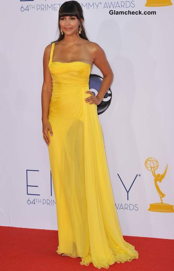 Celebrity Yellow Gowns on the Red Carpet Hannah Simone