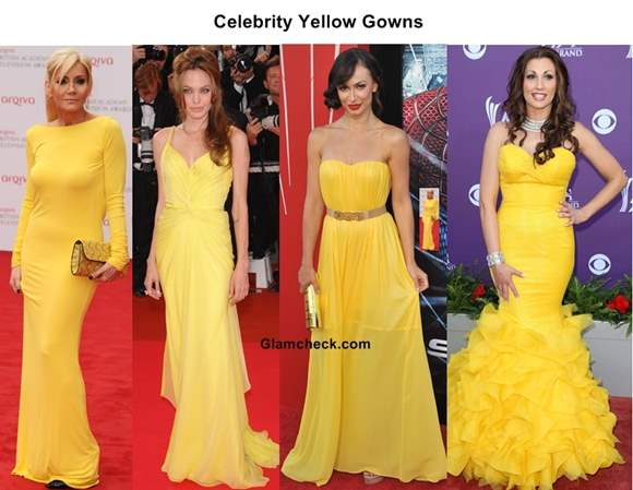 Celebrity Yellow Gowns on the Red Carpet