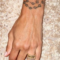 Charisma Carpenter Wrist Tattoo