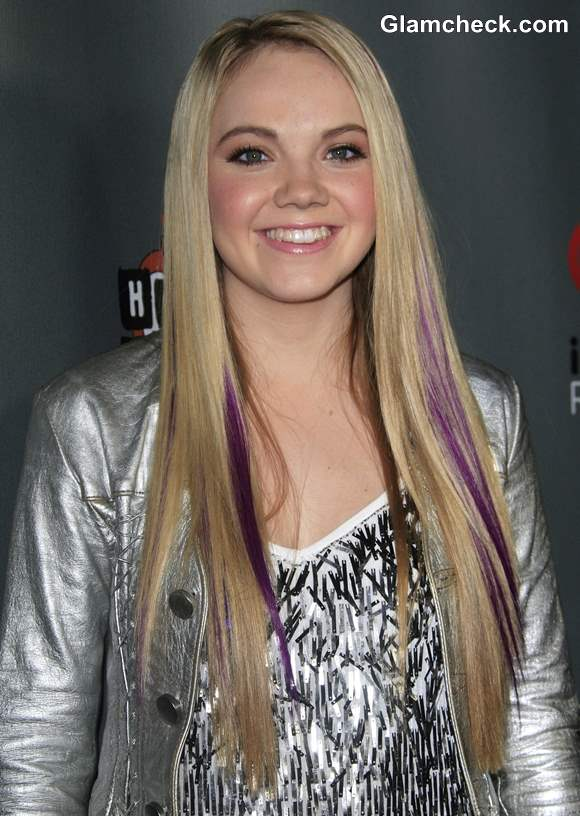 Danielle Bradberry S Streaks Hair Perky Purple