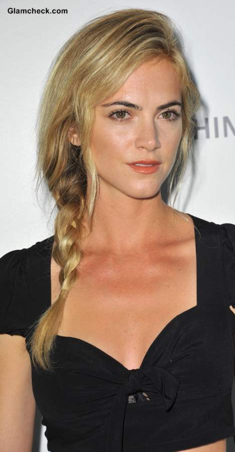 Emily Wickersham Side Braid hairstyle 2013