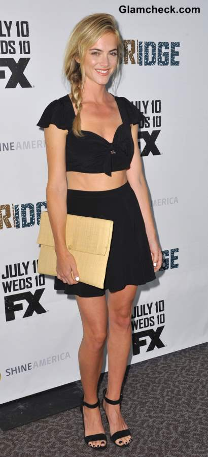 Emily Wickersham Sports Side Braid at The Bridge Premiere