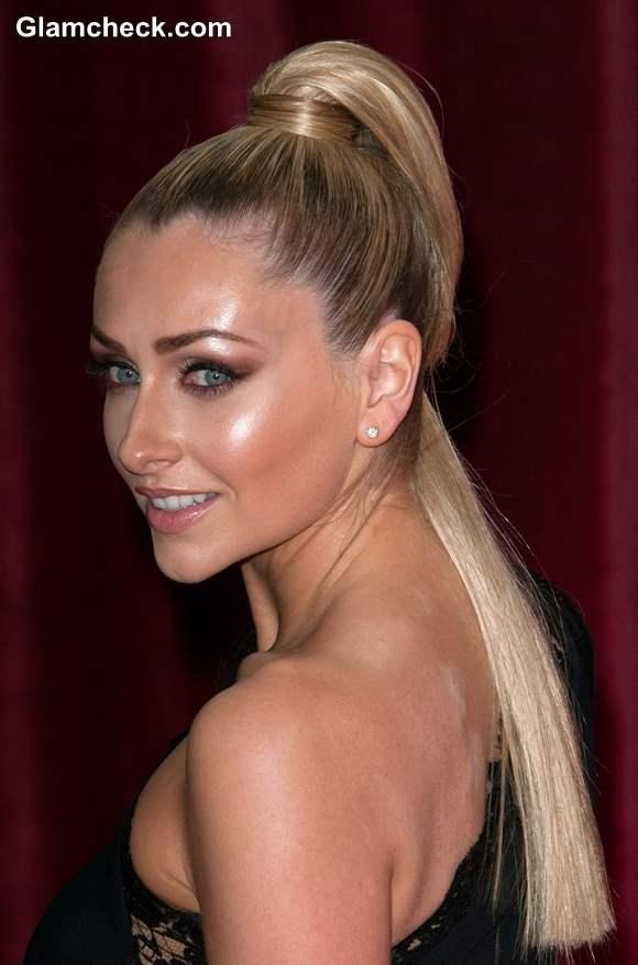 Gemma Merna Sleek Ponytail at Brit Soap Awards 2013
