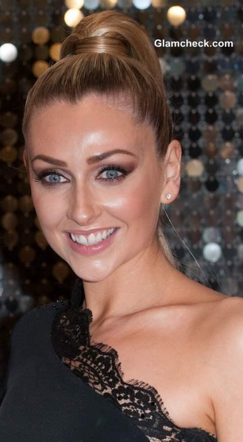 Gemma Merna Sports Sleek Ponytailat Brit Soap Awards 2013
